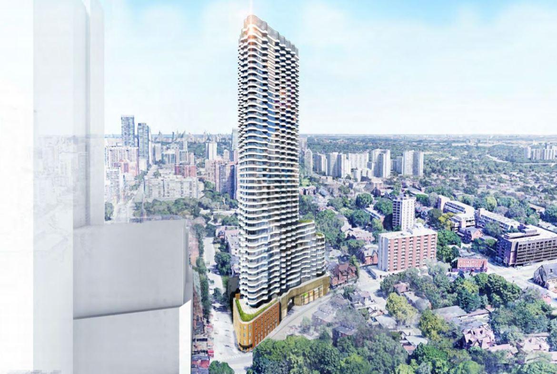 Condo rendering of Filmores Hotel Redevelopment full view exterior
