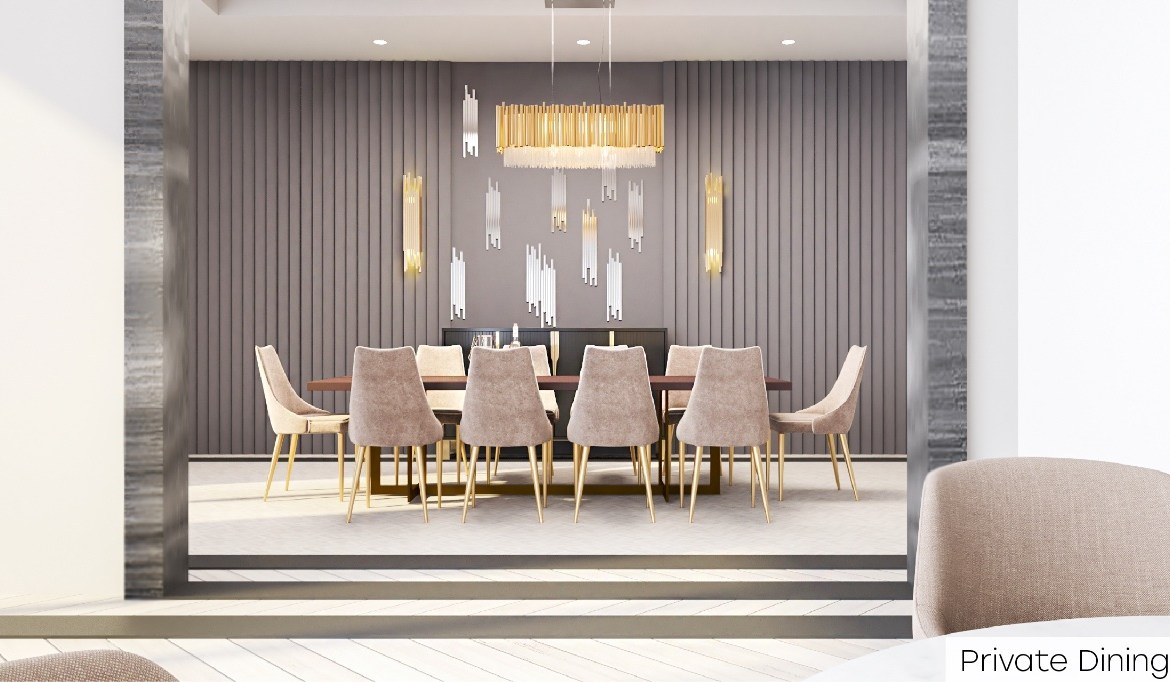 Rendering of Nahid Kennedy Condos private dining