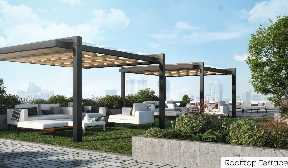 Rendering of Nahid Kennedy Condos rooftop terrace