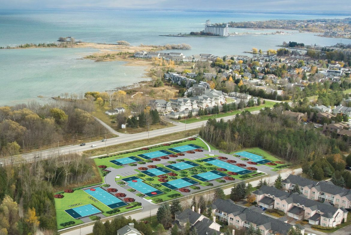 Aerial of Waterstone Towns in Collingwood