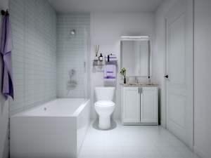 Rendering of Nuvo 2 suite bathroom