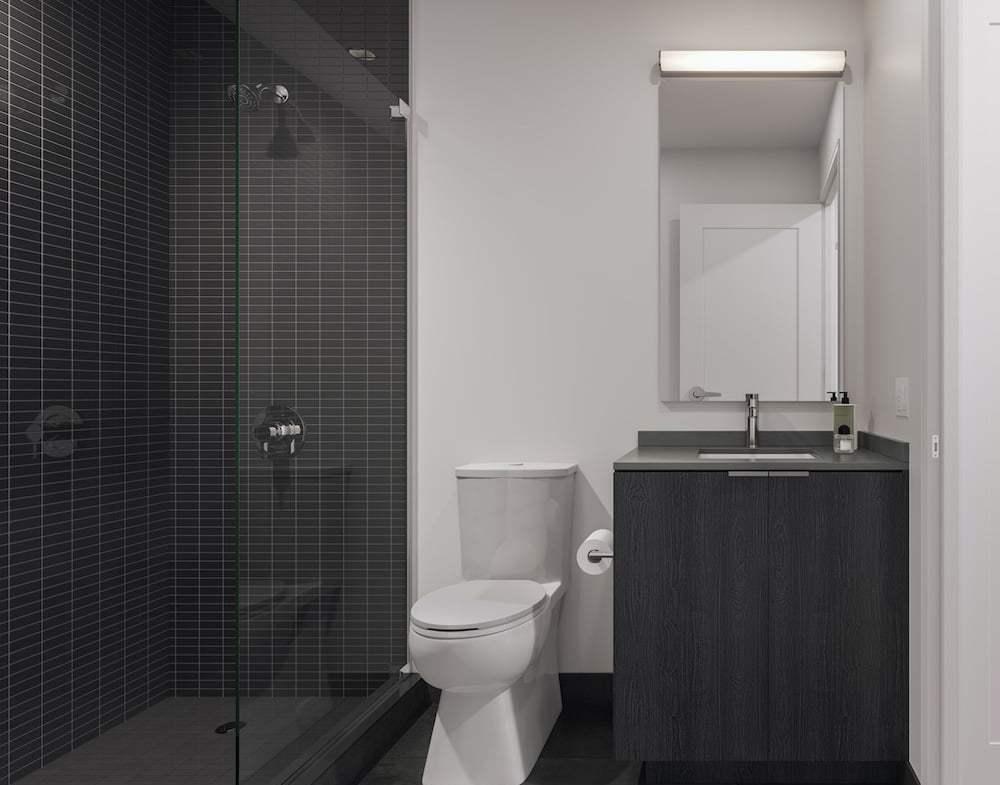Rendering of 1 Jarvis Condos suite bathroom ombre
