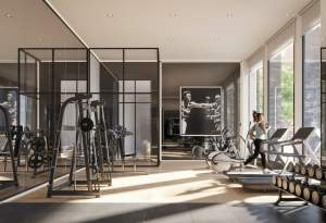 Rendering of 1 Jarvis Condos fitness centre
