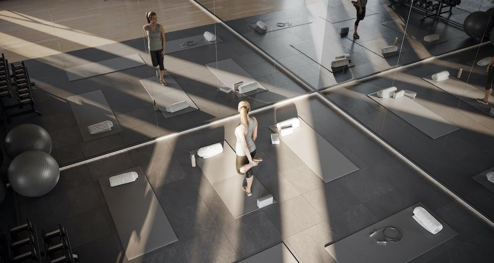 Rendering of 1 Jarvis Condos yoga studio