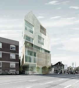 Exterior rendering of 361 Davenport Condos in Toronto