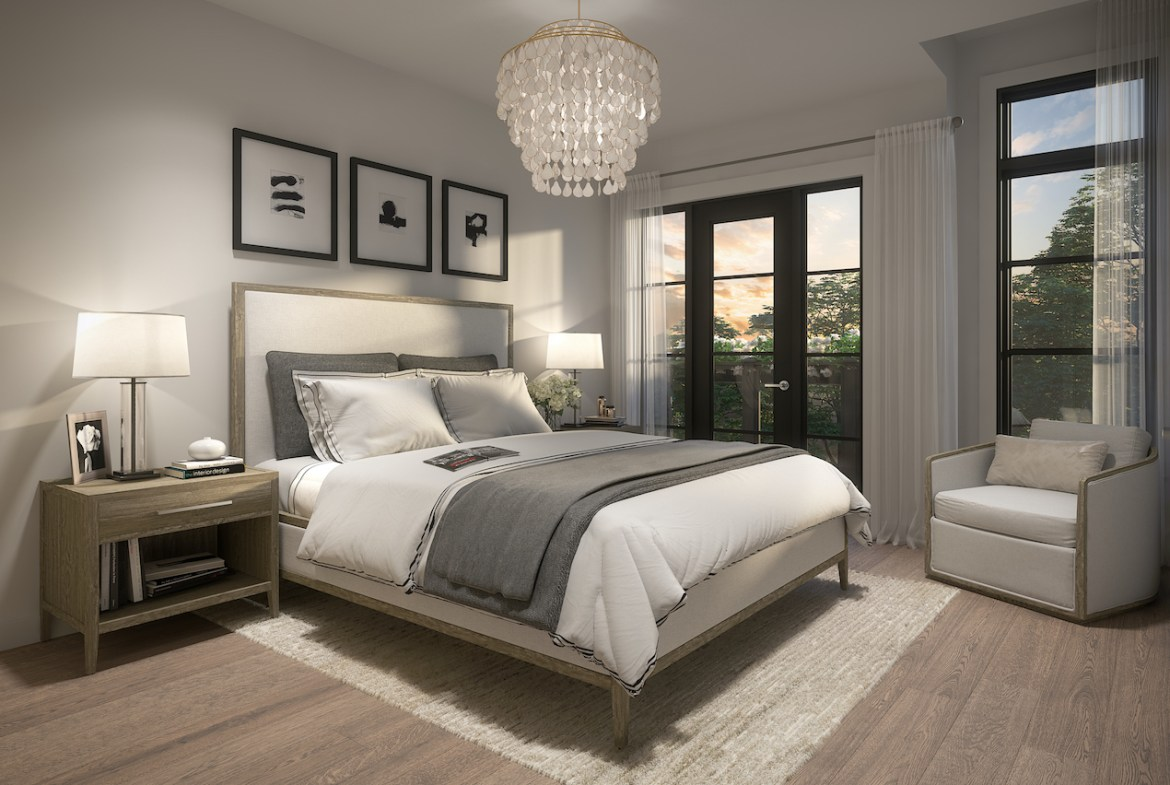 Rendering of Archetto Towns interior bedroom
