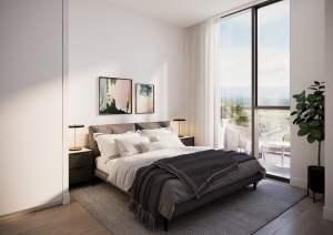 Rendering of Realm Condos interior bedroom