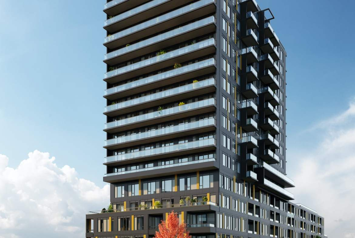 Rendering of Realm Condos exterior full view