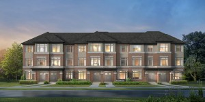 Rendering of Caledon Trails Townhouse Block Elevation B