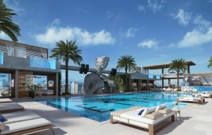 Rendering of E11even Hotel and Residences swimming pool