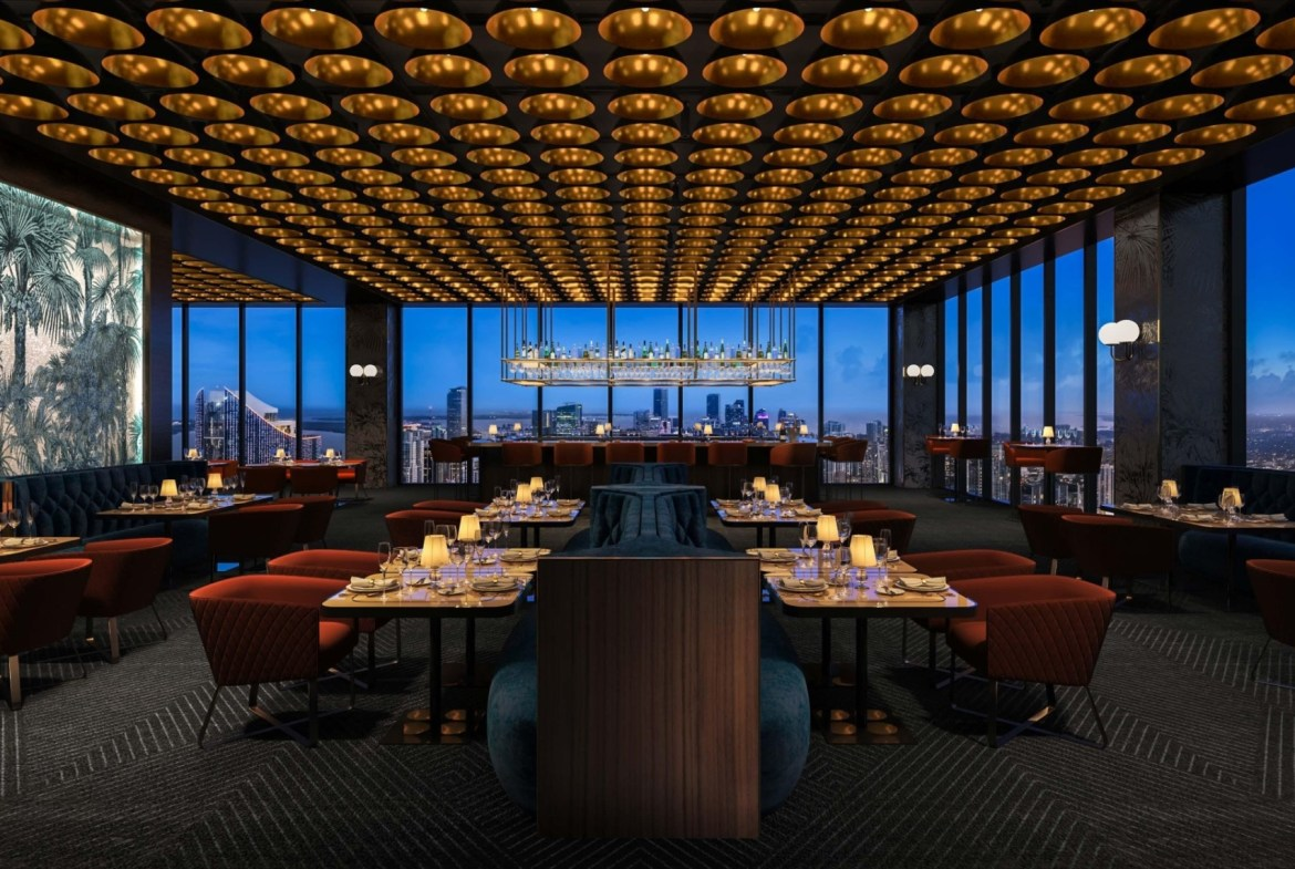 Rendering of E11even Hotel and Residences dining