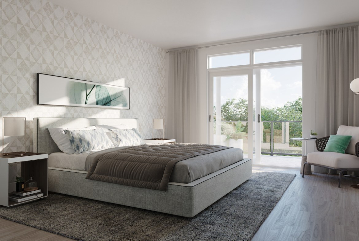 Rendering of Ivylea towns interior bedroom