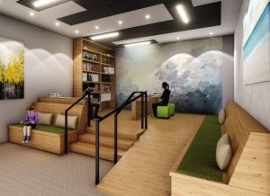 Rendering of Victoria Garden Shared co-working space