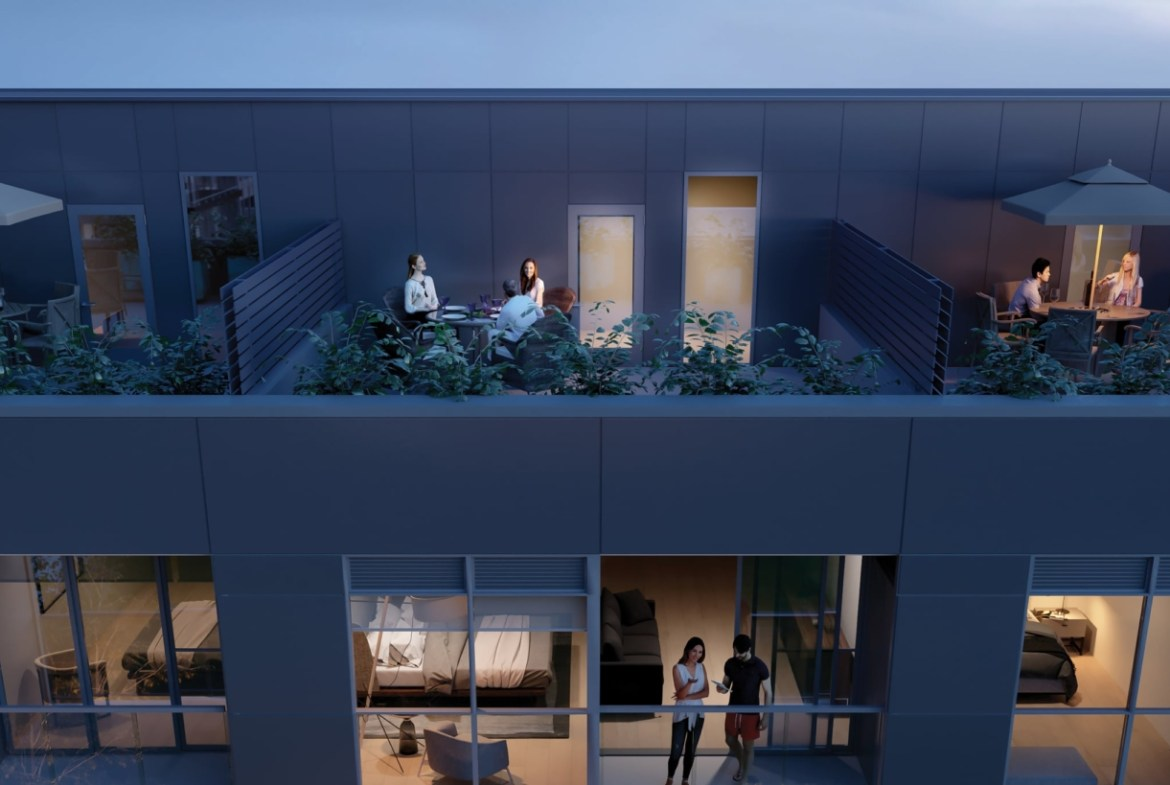 Rendering of Avia 2 Townhome balcony