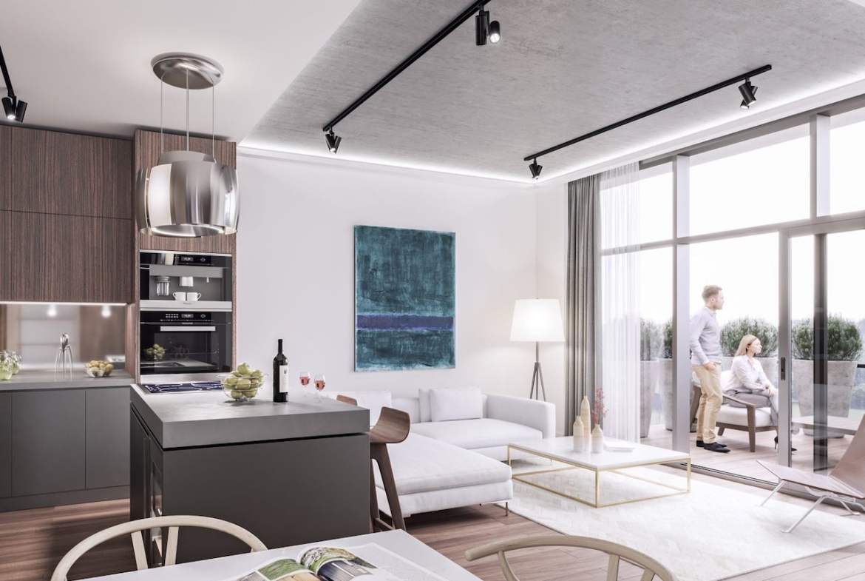 Rendering of Mondria Condos suite open-concept