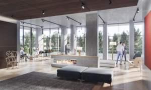 Rendering of Mondria Condos lobby