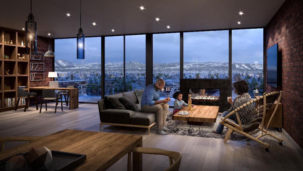 Rendering of The Regent Condos suite interior
