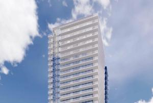 Rendering of 1821 Weston Condos exterior top detailing