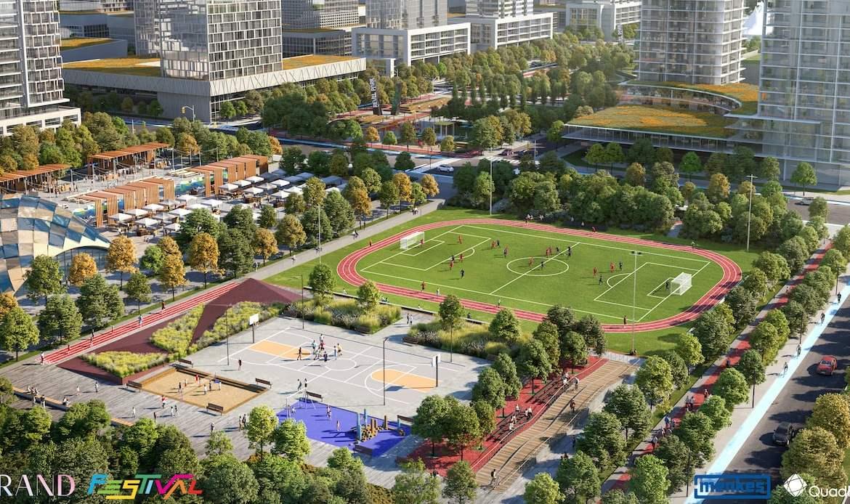 Grand Festival Condos Soccer Field Cultural Hub