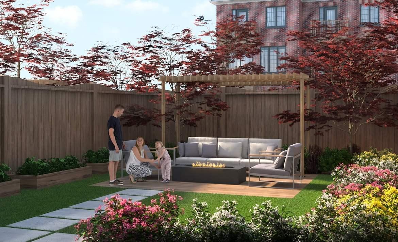 Rendering of Highbury Gardens garden