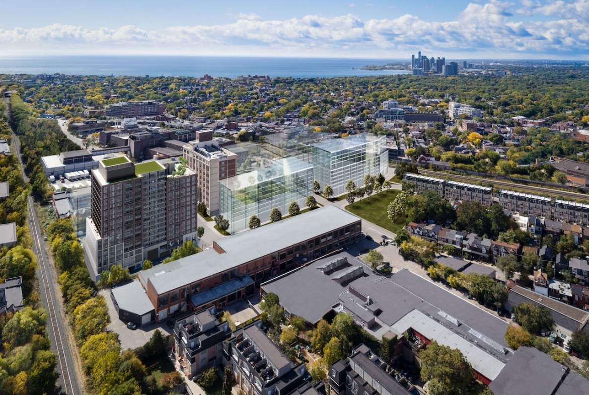 Rendering of House of Assembly Condos aerial context map