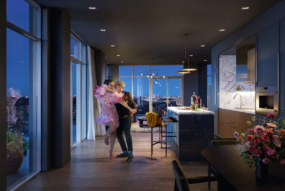Rendering of The Capitol Condos Premiere Penthouse interior