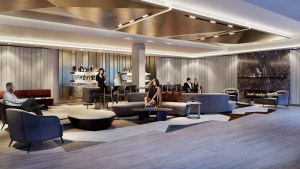 The Dupont Condos party room with seating