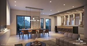 Rendering of Charing Cross Condos party room