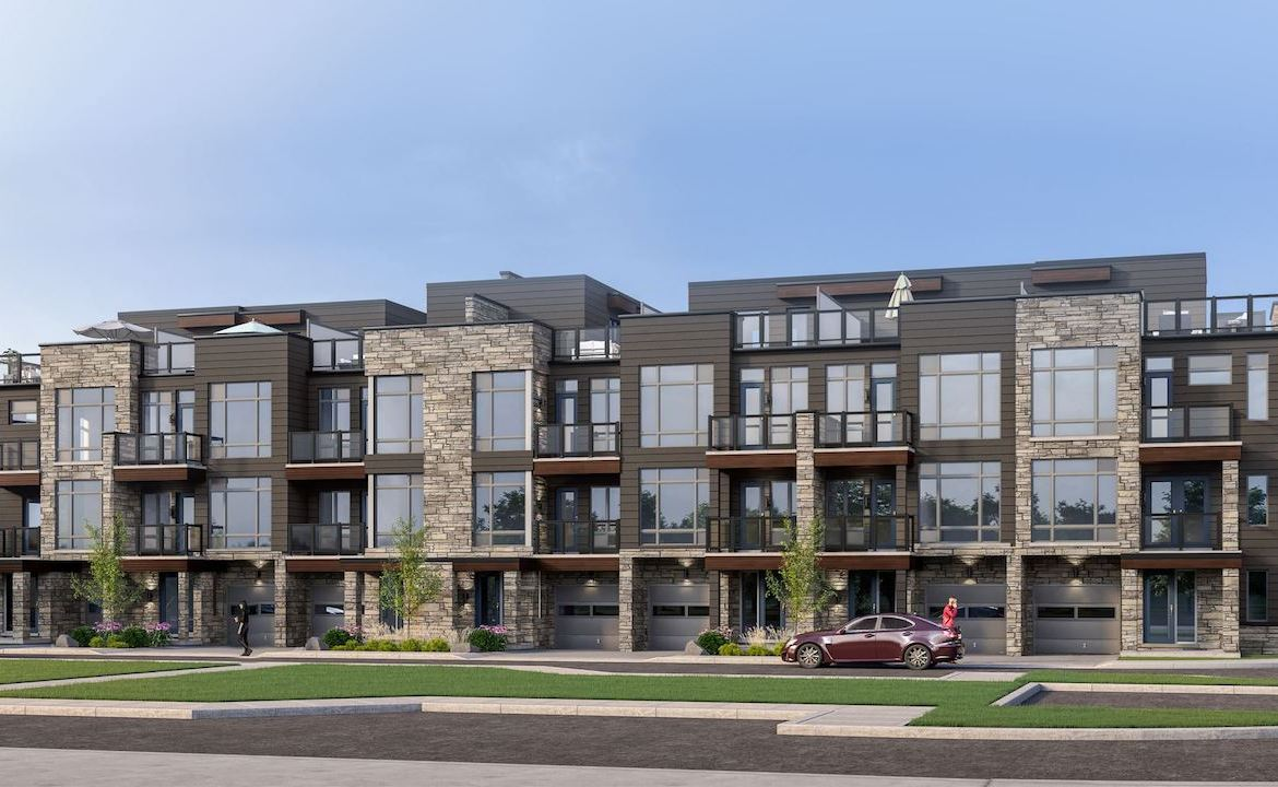Rendering of Orillia Fresh Towns exterior view