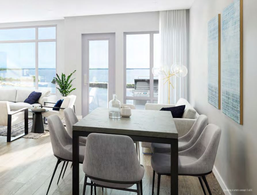 Rendering of Orillia Fresh Towns suite dining