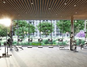 fitness centre rendering of Twin Regency Condos