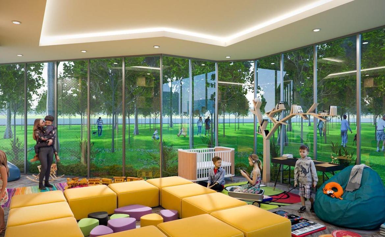 Kids playroom rendering of Twin Regency Condos