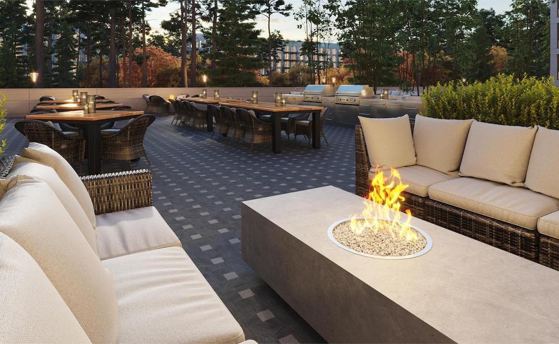 Outdoor terrace rendering of Twin Regency Condos