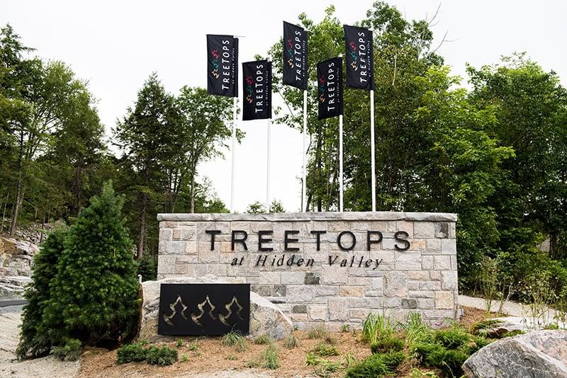 Treetops Condos entrance sign
