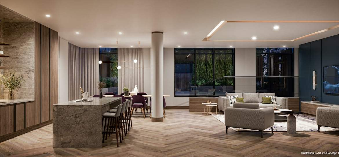 Rendering of Boulevard at the Thornhill party room