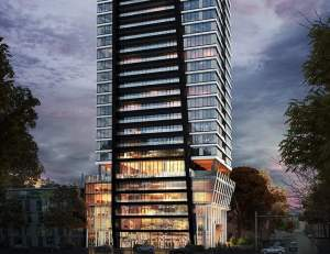 Exterior rendering of LeftBank Condos bottom half