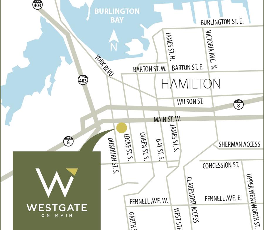 Map of WESTGATE on Main Condos in Hamilton, Ontario