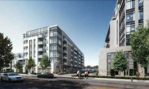 Rendering of 172 Finch West Condos streetscape