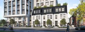 Rendering of 287 Davenport Condos exterior view of townhouses