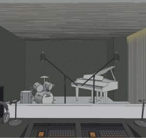 Rendering of Y9825 Condos music studio