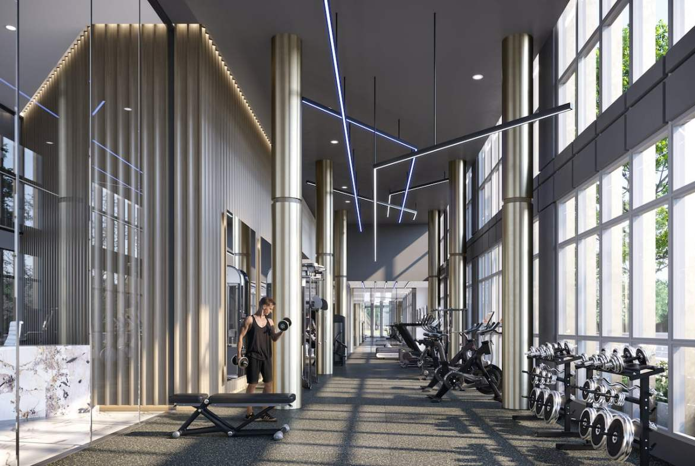 Rendering of The Wilmot Condos Interior fitness centre