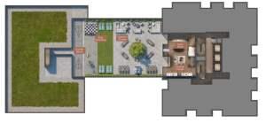 Rendering of Verge Condos 9th floor amenity space