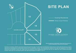Site plan of Dixon Court Estates