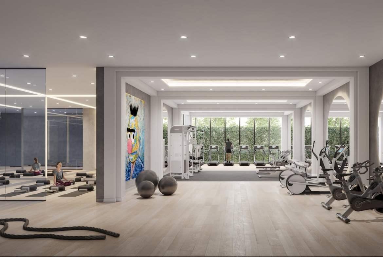 Rendering of Arte Residences fitness centre