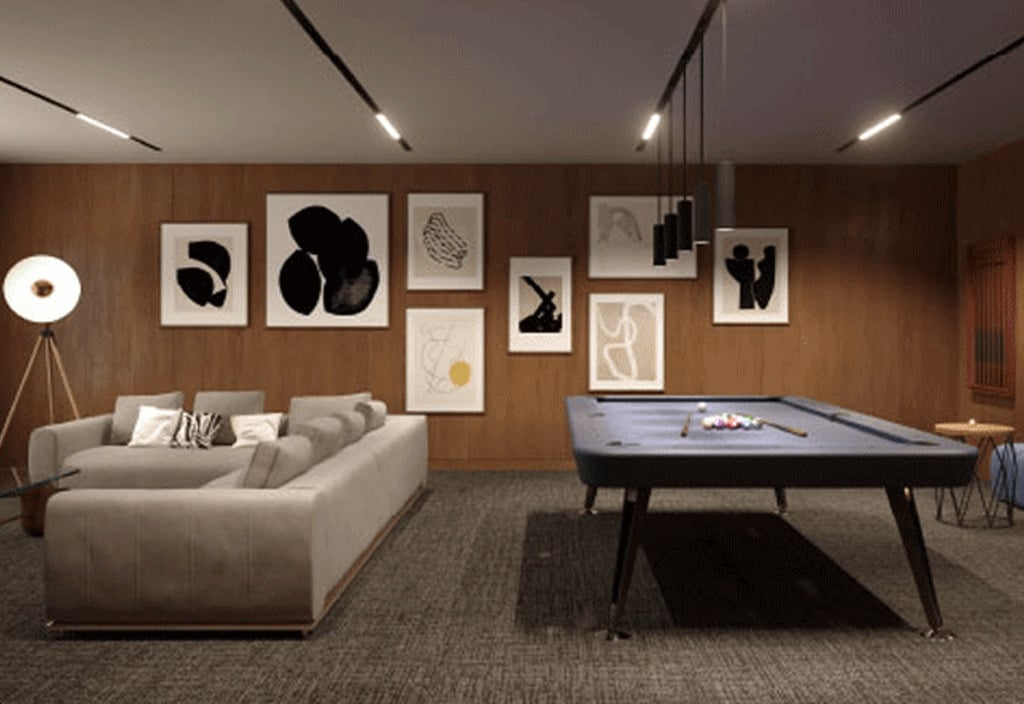 Rendering of The Millhouse Condos party room