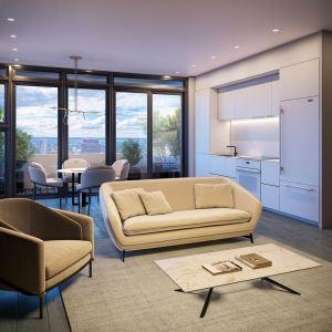 Rendering of The Moderne Condos suite interior