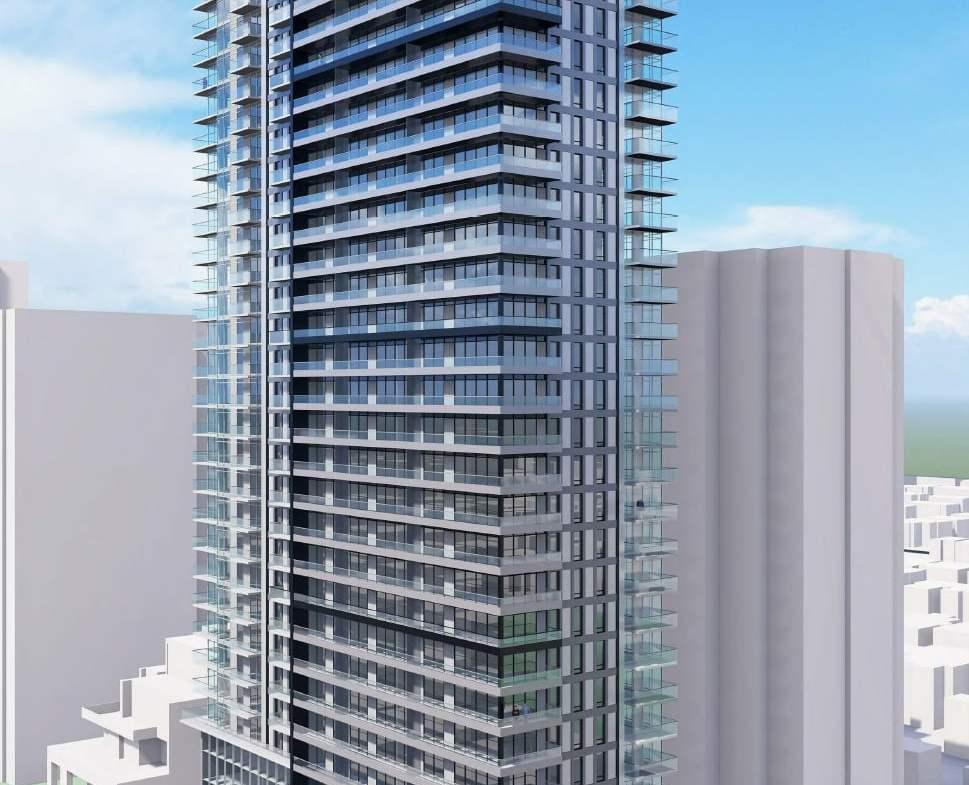 Rendering of 148 Avenue Condos exterior full view