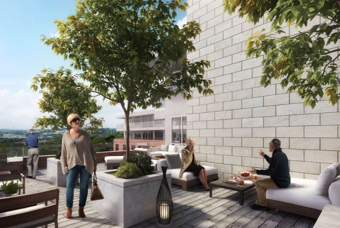 Rendering of The Residences On Owen exterior terrace