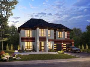 Rendering of Upper Vista Muskoka Healey Two Storey Home