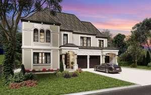 Rendering of Upper Vista Muskoka Pine Two Storey Home